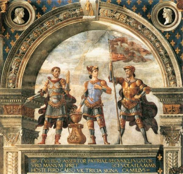 Decoration of the sala del gigli